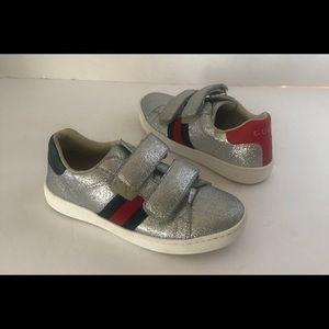Gucci Children's Ace glitter sneaker 28 US 11